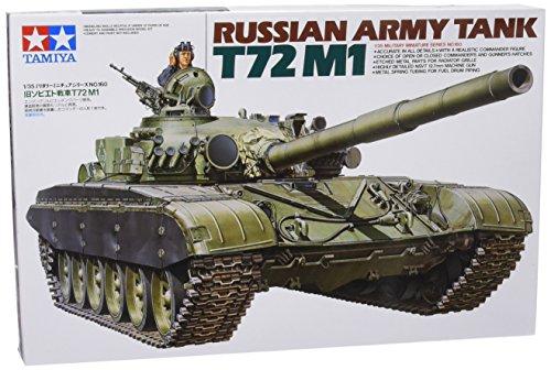 Tamiya 300035160 - modellino carro armato russo t72m1 realizzato in scala 1:35