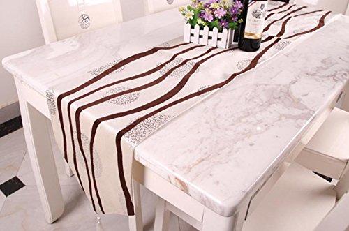 Preisvergleich Produktbild XXFFH Chinesischen Stil Glatten Tisch Tuch Satin Tischläufer White 33*210Cm
