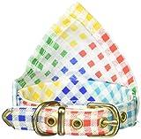Mirage Pet Products Hundehalsband, kariert, 25,4 cm, Weiß