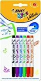 BIC Kids Velleda 8413871- Pennarello mini per lavagna, 1,2 mm, confezione da 6, colori assortiti
