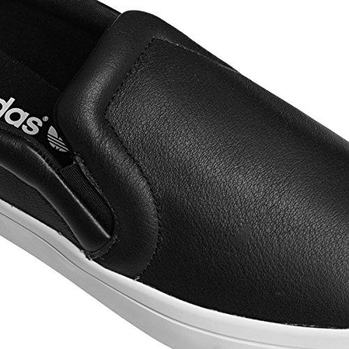 Adidas Courtvantage Slip On W, Nero / Nero / Blanc, 6 Us Noir
