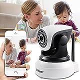 VideoCamera di Videosorveglianza IP Colori Esterno/Interno WiFi Wireless 2.0 Megapixel 1080P 36 pz Sensori Infrarossi Impermeabile Compatibile con Smartphone Nero (IP Camera)