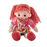 Tokenz Baby Doll in Pink and Floral Dress for Girls Plush Dolls for Girls 12 inches