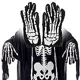 ZHAOZX Guanti di Halloween Horror Ghost Paw Print Manica Lunga Lavabile Scaldabraccia Set Scary Cosplay Costume Decoration