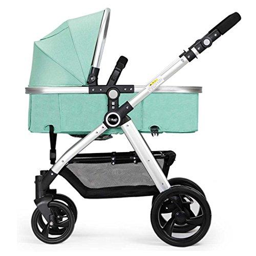 Unbekannt ERRU- Faltender Baby-Spaziergänger/kann sitzen Lie Down Zwei-Wege leicht tragen Winter und Sommer Dual Use Baby Trolley Leichte Sitzbuggys