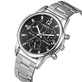 Herren Uhren,Männer Quarts Uhr Mode Casual analog Armbanduhr geschäft beiläufig Uhr Geschenk, Rundes zifferblatt aus Edelstahl Uhr Luxus Elegant Armbanduhren für Herren Herrenuhr