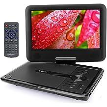 """ieGeek 9.5 """"Reproductor de DVD Portátil, para Niños / Ancianos, CD MP3 Multimedia Video, 2500mAh Batería Interna, con Cargador de Coche y Joystick de Juego, Negro"""