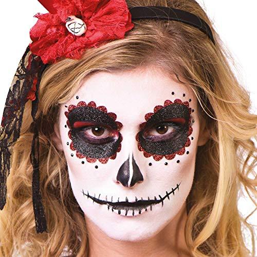 B-kreativer beängstigender Zucker Schädel Tag der Toten Halloween-GesichtsFarbe -