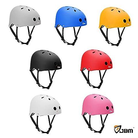 JBM Skating Helm Sicherheit Schutz f¨¹r Multi-Sport Skateboarding Roller fahren Skating Inline Skating zweir?driges elektronisches (2 Linea)