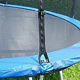 Helo Trampolinnetz Ø 245 cm aus stabilem Nylon-Netzgewebe, Ersatznetz für Trampoline mit 6...
