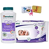 Himalaya Herbals Baby Powder (100g)+Himalaya Herbals Soothing Baby Wipes (12 Sheets) With Happy Baby Luxurious Kids Soap With Toy (100gm)