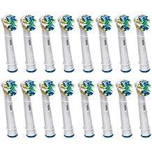 KongKay® 16 PCS EB25/EB-25A Floss Action la cabeza de cepillo de dientes reemplazadas compatible para Braun Oral-B Cepillo de dientes eléctrico, compatibles con Professional Floss Action, los siguientes modelos de cepillos de dientes eléctricos Oral-B: Floss Action, Vitality Precision Clean, Vitality Floss Action, Professional Care, Vitality Sensitive, Vitality Pro White, Vitality Dual Clean, Vitality White and Clean, Triumph, Advance Power, TriZone y Smart Series. (4PACK x 4PCS)