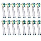 The Good FLOSS ACTION ERSATZ Zahnbürste Kompatibel für Braun Oral B, Tiefen-Reinigung, kompatibel mit Oral-B Vitality Precision Clean, weiß Clean, Sensitive Clean, Oral-B Professional Care 5000, 6000, 7000, 8000, Oral -B Triumph Professional Care 9000 Series, Oral-B Advanced Power ACTION (16 PCS (4 PCK mit 4 Köpfen))