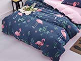 TylAdamdongdong Kinderbettwäsche,Bettbezug Bedding Printing Single Doppel Königin König Customized flamingo-05_140x200cm
