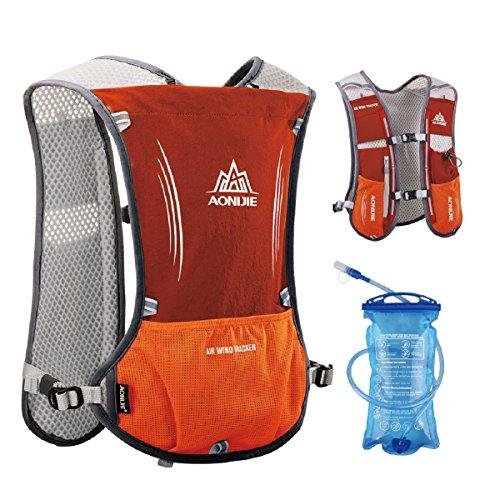 triwonder 5L Marathoner Running race chaleco de hidratación sistema de hidratación mochila - OS1513OR-15L, Orange - with 1.5L Water Bladder