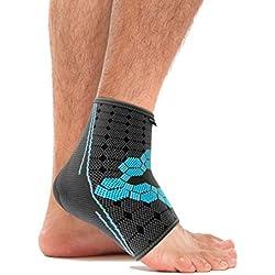 bonmedico® Ekto (NEU!), Fuß-Bandage Mit Wärmefunktion Für Bessere Blutzirkulation im Fuß - Sehr hoher Tragekomfort Im Schuh Ohne Druckstellen - Für Frauen und Männer (L) (links/rechts)