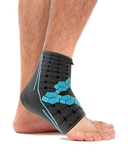 Sportliche Knöchel Unterstützt (bonmedico® Ekto (NEU!), Fuß-Bandage Mit Wärmefunktion Für Bessere Blutzirkulation im Fuß - Sehr hoher Tragekomfort Im Schuh Ohne Druckstellen - Für Frauen und Männer (M) (links/rechts))