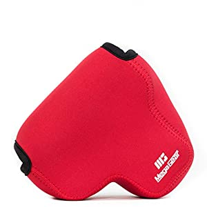 MegaGear MG850 Ultra Light Neoprene Case with Carabiner for Nikon Coolpix B700 Camera - Red