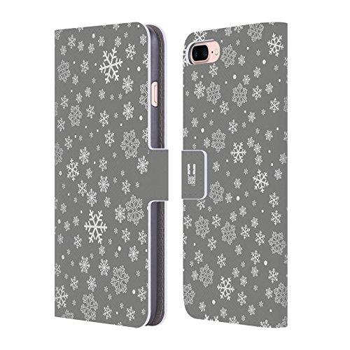 Head Case Designs Sterne Silber Urlaub Kollektion Brieftasche Handyhülle aus Leder für Apple iPhone 6 / 6s Flocken