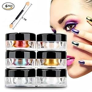 Glitter per unghie mirror powder polvere glitter per unghie nail powder nail art scintillio - Unghie polvere specchio ...