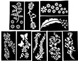 #5: Ivana's Henna Body Art Tattoo Stencil Drawing Templates Sticker