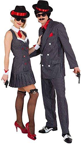 Bonnie Clyde Kostüm - Orlob Damen Kostüm Mafia Ganovin 20er Jahre zu Karneval Fasching Gr.34