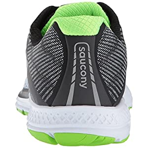 Saucony Ride 10, Zapatillas de Running para Hombre, (Grey/Black/Lime), 40 EU