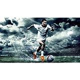 Cristiano Ronaldo (43inch x 24inch / 107cm x 60cm) Silk Print Poster - Seide Plakat - AF72F3