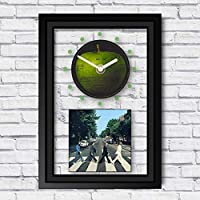 THE BEATLES - Abbey Road: FRAMED CD ART CLOCK/Exclusive Design