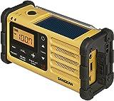Sangean MMR-88 tragbares Kurbelradio (UKW/MW-Tuner, Taschenlampe, Notfall-Signalton, integrierter Li-Ion-Akku, Kopfhöreranschluss) gelb/schwarz - 2
