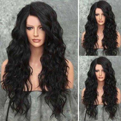 Elegante Frauen Damen Perücken 76 Cm/30 Inch Lange Lockige Natürliche Welle Frisur Perücken Hitzebeständige Synthetische Perücken Täglichen Gebrauch