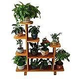 MLHJ NNIU Reine Holzplatte Amerikanischen Boden Wohnzimmer Blumenregal Balkon Einfache mehrstöckigen Erdgeschoss Gemüsepflanze Regal Multifunktions Blume Regal