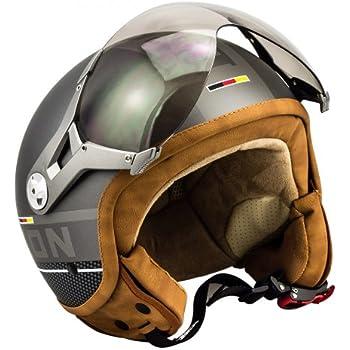 soxon sp 325 plus titanium vintage helmet motorrad helm. Black Bedroom Furniture Sets. Home Design Ideas