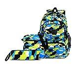 CUIBIRD Schulrucksack Jungen Schultasche Jugendliche Nylon Rucksäcke Schule Wasserfest Backpack