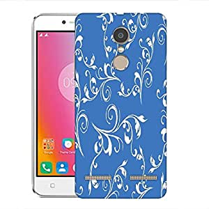 Snoogg White Heart With Pearls Designer Protective Phone Back Case Cover For Lenovo K6 Power