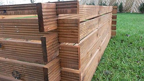 Stabiler Holzkomposter imprägniert 170 x 85cm