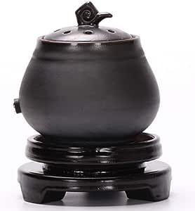 QQAA Diffusore di Aromi, Bruciatore di Incenso Elettronico in Ceramica, Adatto per Soggiorno/Camera da Letto, Regolazione Regolare della Temperatura, Bruciatore di Olio Essenziale