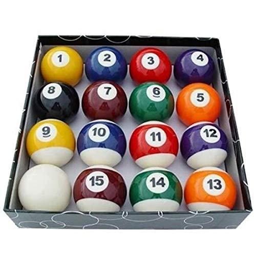 EEvER Mini Billard Pool Ball Set, 16 Teile / Satz Miniatur Spielzeug Kinder Billardkugeln Komplette Erwachsene Kinder Familie Interaktives Spielzeug Geschenk (Bunt)