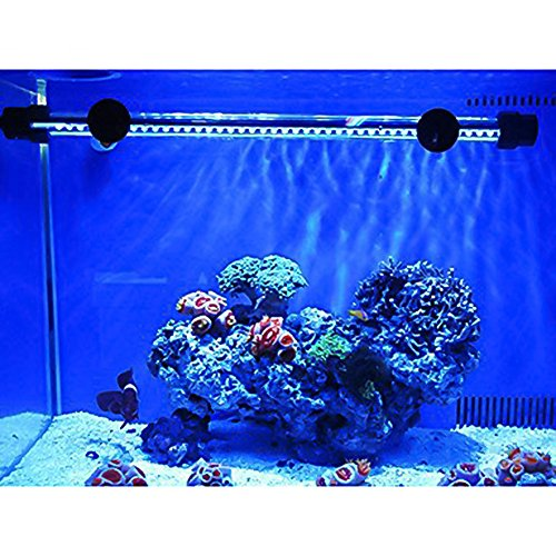 G-Lighting® Aquarium LED Beleuchtung Leuchte Lampe 57 LEDs 4W 48CM Lighting für Fisch Tank, EU Stecker Blaulicht Wasserdicht
