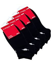 3 - 6 - 9 oder 12 Paar Original KAPPA SNEAKER-Sportsocken schwarz