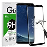 Galaxy S8 Screen Protector, Rusee Samsung Galaxy S8 Full Coverage HD Crystal Clear 3D Tempered Glass Screen Protector, 9H Hardness, Bubble Free, Anti-Fingerprint, Anti-Scratch Protective Film Guard Cover