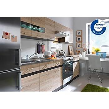 Küche Dave 240 cm Küchenzeile / Küchenblock variabel
