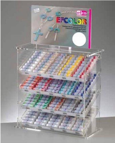 Efcolor Émaillage Poudre, résine, Jaune Fluo, 10 ML
