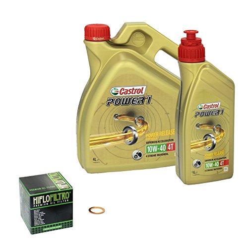 Castrol power1 (10W – 40 huile de 1600 yamaha xV wild star modèles 1999-2004 hiFlo temps, filtre à huile et joint d'étanchéité