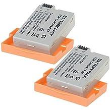 TOP-MAX® 2 Paquetes 1180mAh LP-E8 Reemplazo Batería Rercargable para para Canon 550D/600D/650D/700D Rebel T2i/T3i/T4i/T5i