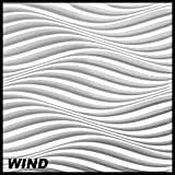 1 Platte 3D Paneele Wanddekoration Decke Dekoration Wandplatte 60x60cm, WIND