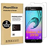 PHONILLICO [Pack de 2] Verre Trempe pour Samsung Galaxy A3 2016 SM-A310 - Film...