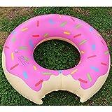 Donut Hinchable Anillo de natación Piscina Gigante Flotador Círculo Playa Mar Fiesta Colchón Inflable Agua Adulto Niño (Color: Rojo) (Tamaño: 60CM)