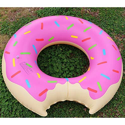 Donut Hinchable Anillo de natación Piscina Gigante Flotador Círculo Playa Mar Fiesta...