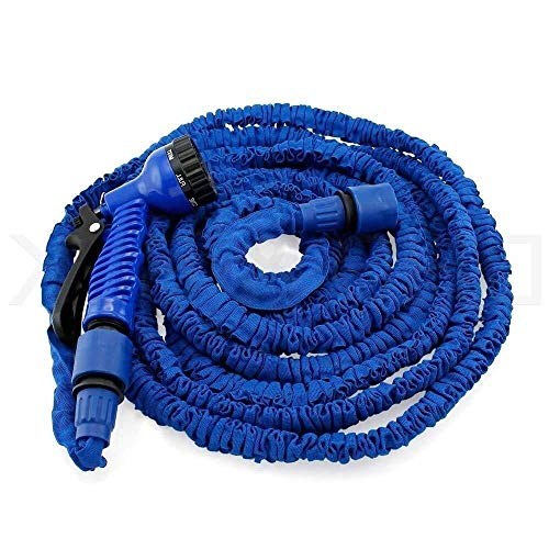 WSQ hose Teleskop-Gartenschlauch aus Latex, 9 Arten von Hochdruckdüsen for Multifunktions-Spritzpistolen, Haushalts-Magieschlauch, flexibel, leicht, knickfrei, schnell lösbares Wasser (Size : 45m)